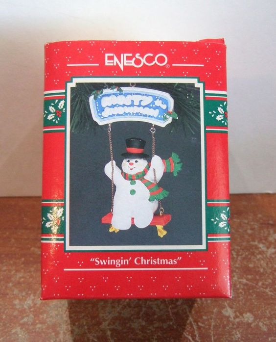 Enesco Ornament Swingin' Christmas Frosty the Snowman NIB (H17)