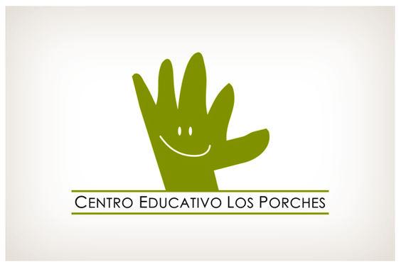 Centro Educativo Los Porches. © 2012 Veintiocho Estudio Creativo. #logotipo #logotype #veintiocho