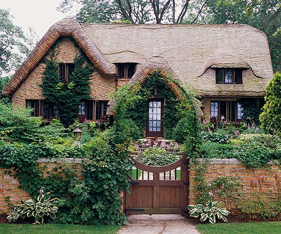 Cottage style home ideas gardens storybook cottage and Stone cottage kit homes