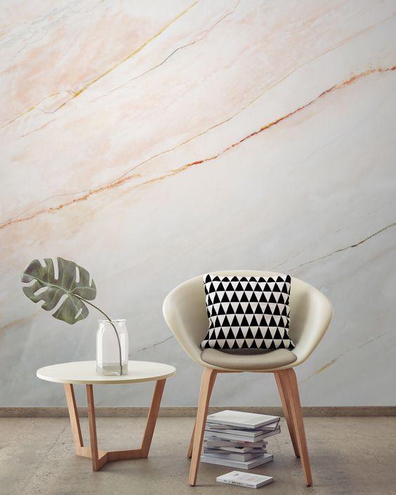 Best Blush Pink Fade Marble Wallpaper Textured Wallpaper 640 x 480
