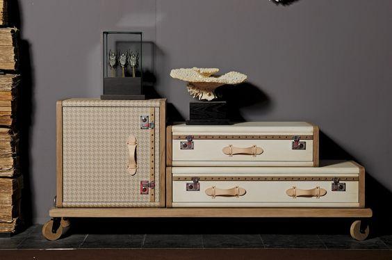 Les valises by Emmanuelle Legrave #home #homedecor #decoration #beige