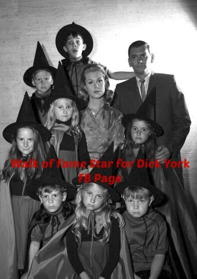"""A mere mortal amongst witches! """"Bewitched"""" season 1 publicity photo...( And yes that is Maureen McCormick in the front middle!!)"""
