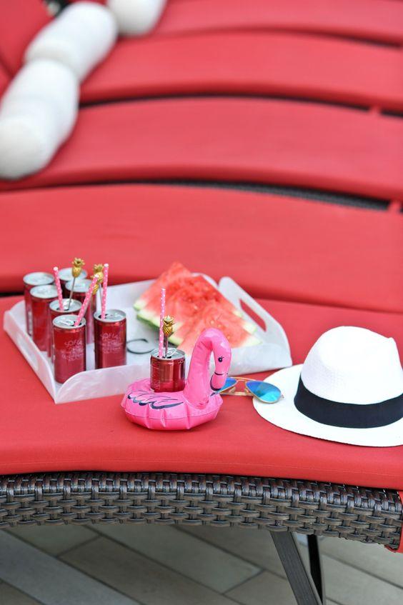 adult pool party ideas, swan pool float, flamingo inflatable drink holder via @mystylevita @wayfair