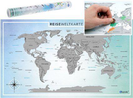 Weltkarte zum Rubbeln - wie cool ist das? :D
