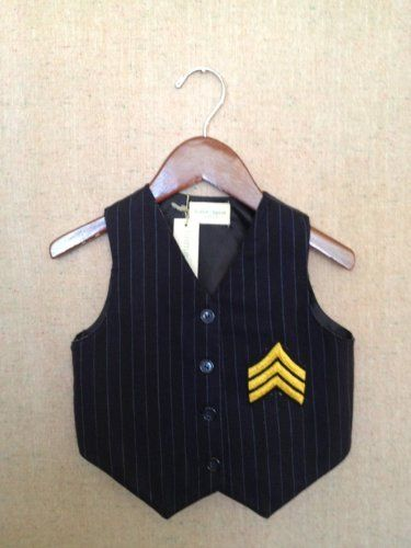 Home Spun Vintage Pin Stripe Vest Size 3T- I'll be making this for B instead of paying $35 :)
