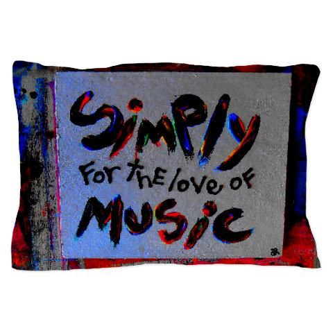 simply for the love of music pillow case