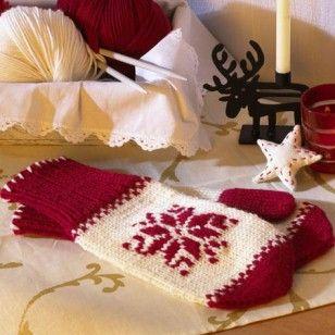 Handschuh-Alternative  Fäustlinge stricken - mit kostenloser Anleitung