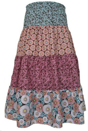 DIY tiered peasant skirt