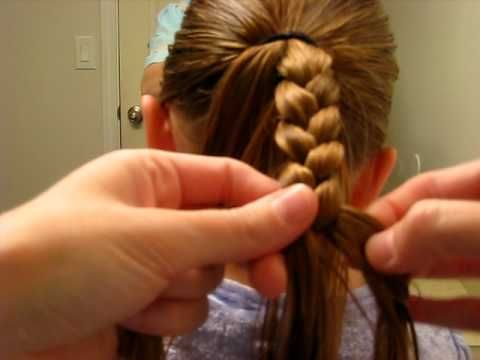 how to do cascading feather braid