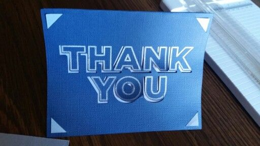 first thank you card