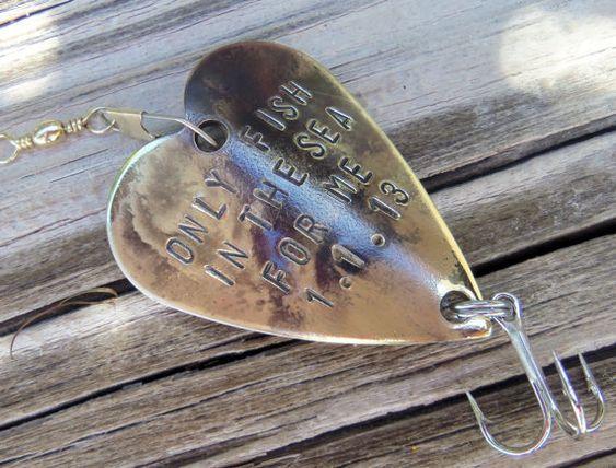 Anniversary gift for men gift for husband fishing custom for Engraved fishing lures
