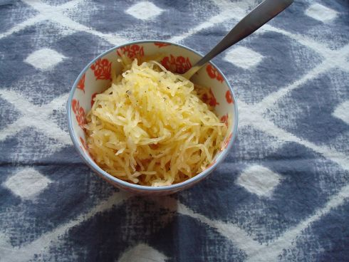 Roasted Spaghetti Squash with Parmesan and Herbs | Baxter and Main ...