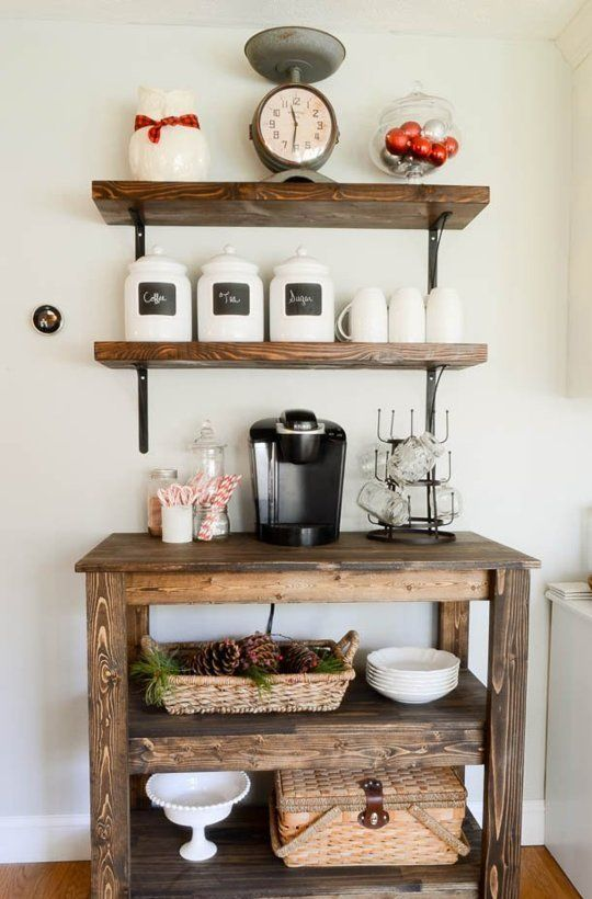13 Coffee Stations for Starting Your Day Off Right — Decorating Inspiration | The Kitchn: