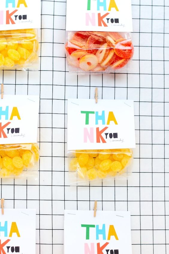 colorful favor bag toppers | Julep