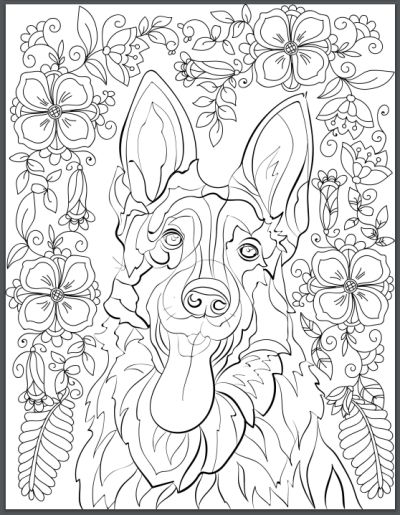 De-stress With Dogs: Downloadable 10 Page Coloring Book for Adults Who Love Dogs - Print Instantly!: