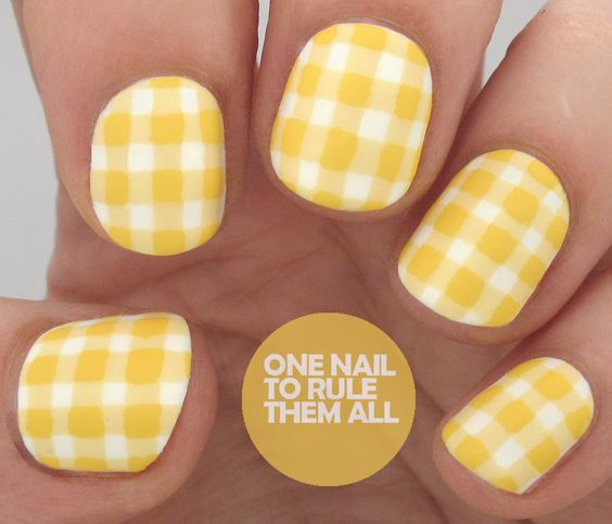 Gingham Man at the Helm Book Inspired Nail Art + Review - One Nail To Rule Them All
