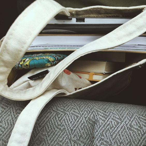 Necessities consist of lots of journals and littler bags and my computer usually