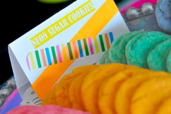 NEON COOKIES At A Cute Neon Themed Party Karas Ideas