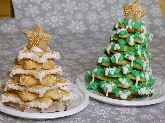 3D Plätzchen-Weihnachtsbaum  Diese Weihnachtsbäume können aus jedem Plätzchenteig, der sich zum Ausstechen eignet hergestellt werden,  Weihnachten Backen, Plätzchen, Weihnachtsbaum, Tannenbaum, Weihnachtsbäckerei, Advent