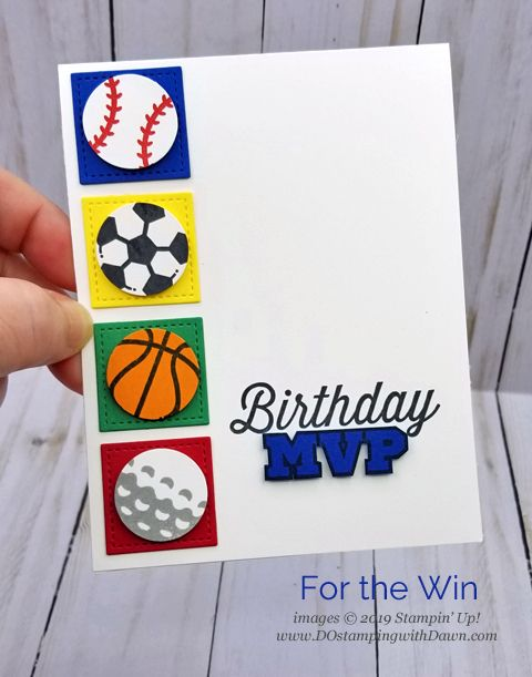 Birthday Thursday You Re An Mvp Dostamping With Dawn Birthday Cards For Boys Kids Birthday Cards Stampin Up Birthday Cards
