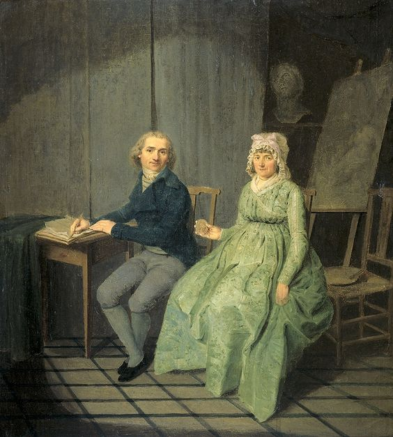 Wybrand Hendricks. Portrait of a Painter and His Wife. 1791. Rijksmuseum, Amsterdam.: