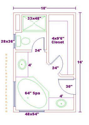 Bathroom And Closet Floor Plans Plans Free 10x16