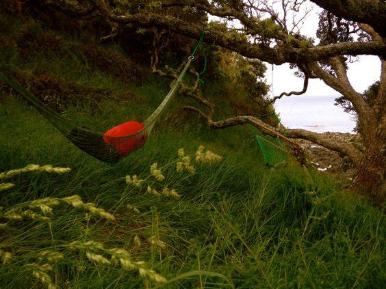 Swinging life away on a hammock in Doubtless bay, New Zealand.