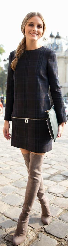Look que nos gusta para llevar con botas altas de gamuza!: