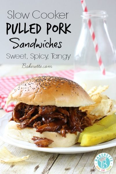 Slow Cooker Pulled Pork Sandwiches with Homemade Sriracha Barbecue Saucer