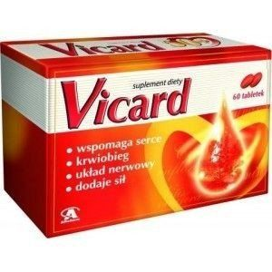 Vicard x 60 dragee, heart and circulatory system, circulatory system function