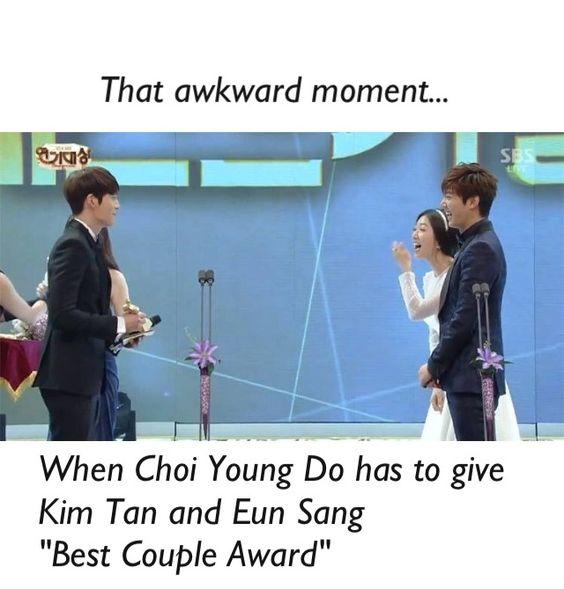 The heirs. Choi young do, kim tan, and eun sang at the awards