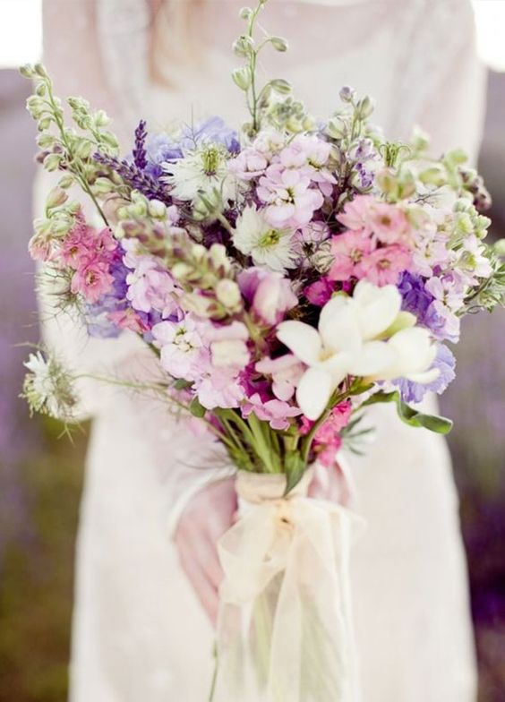 Bouquet // Wildblumen / Lila / Rosa