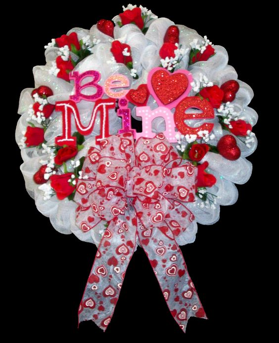 39 be mine 39 wreath by karen b a c moore erie pa wreath for Michaels craft store erie pa