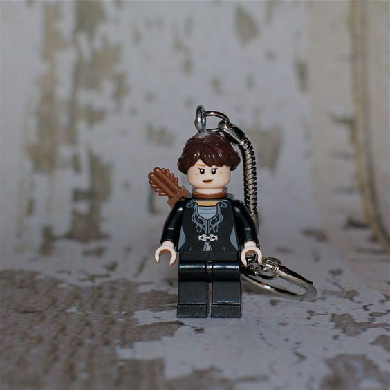 Katniss Everdeen LEGO key chain by boxhounds on Etsy, $10.00