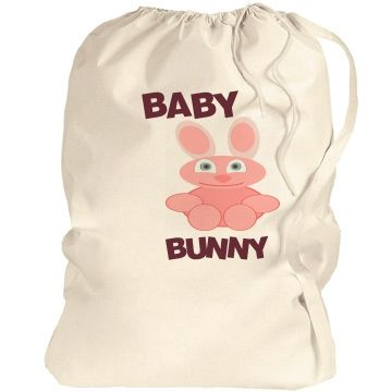 Baby Bunny Laundry BagCheck out this design from Customized Girl.