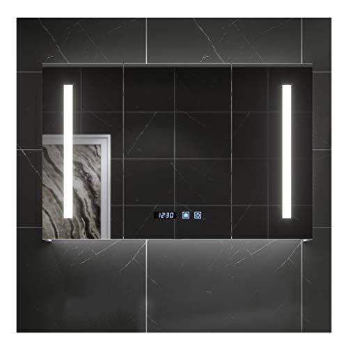 Rkrcxh Bathroom Cabinet Double Mirror Wall Illuminated Led Bathroom Mirror Cabinet Demister Mirror In 2020 With Images Mirror Cabinets Led Mirror Bathroom Bathroom Mirror Cabinet