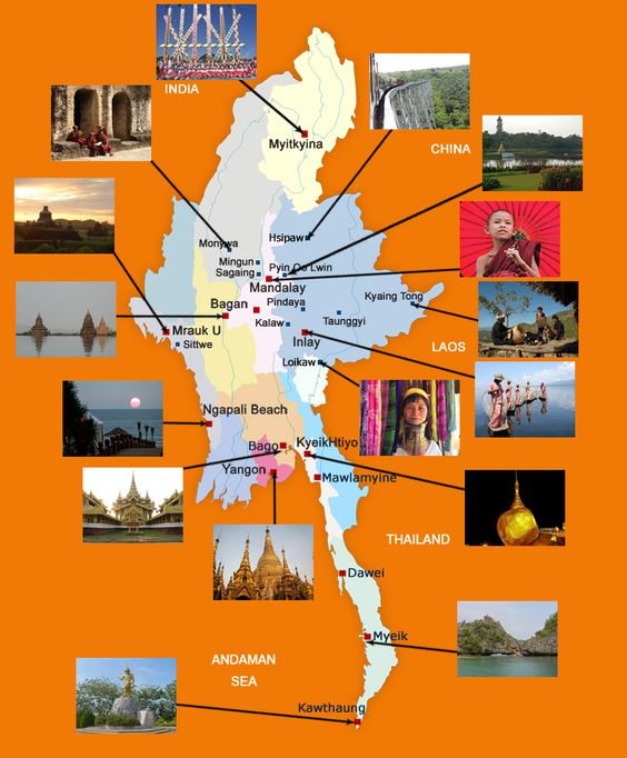 Myanmar Map Taste of Myanmar Travels and Tours – Myanmar Travel Map