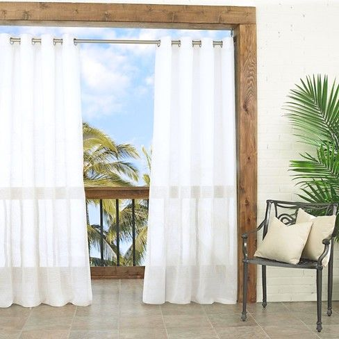 Bring Indoor Elegance To Outdoor Spaces With Parasol Indoor 47 Outdoor Curtains This Versatil Indoor Outdoor Curtains Outdoor Curtain Panels Outdoor Curtains