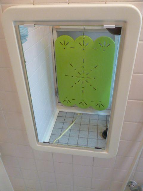 浴室用の鏡を交換された事例です 浴室 ミラー 浴室 鏡 鏡