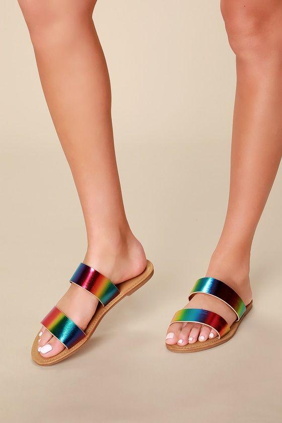 Santa Monica Rainbow Slide Sandals