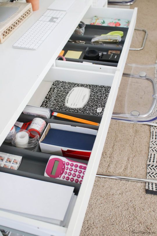 Office Organization Ideas And Minimalist Checklist Desk Organization Ikea Desk Drawer Organisation Organized Desk Drawers