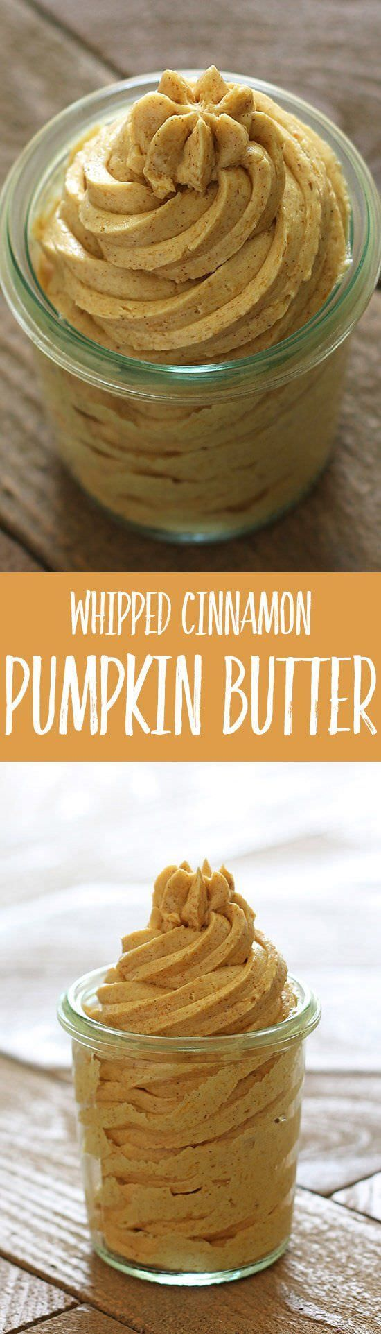 Whipped Cinnamon Pumpkin Butter is bursting with fall flavors and perfect on bread, muffins, pancakes, waffles, and just about anything else. Make it ahead.