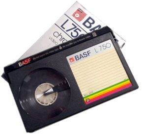 Betamax tapes - gota Beta before VHS as dad felt it was better quality. The Beta player (was it a VCR?) had a cordED remote. lol