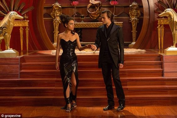 Mila Kunis stuns in leather gown in new stills forJupiter Ascending.  The dress! The shoes!