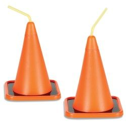 Construction Party Theme: serve juice or water in these fun Construction Cone Cups! - Linda Kaye's Partymakers