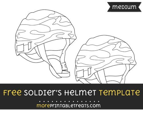 Free Soldiers Helmet Template Medium Soldier Templates