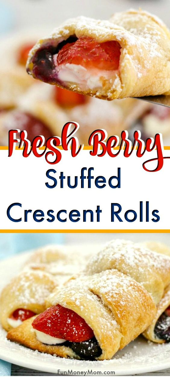 Stuffed Cream Cheese Crescent Rolls