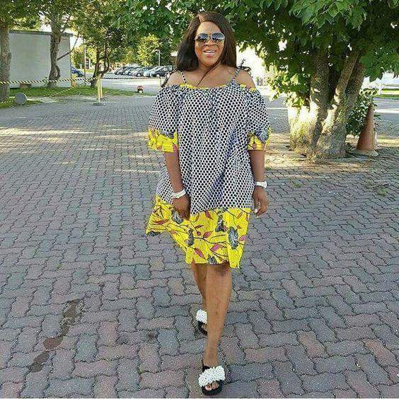 Beautiful short ankara dress for african women, trendy and classy simple short ankara dress styles for women #ankara #ankarastyles #asoebi #asoebibella #africanprint #africanfashion