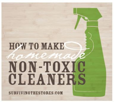 It's so easy to make your own non-toxic cleaners. You only need a few very inexpensive items and you're completely set!