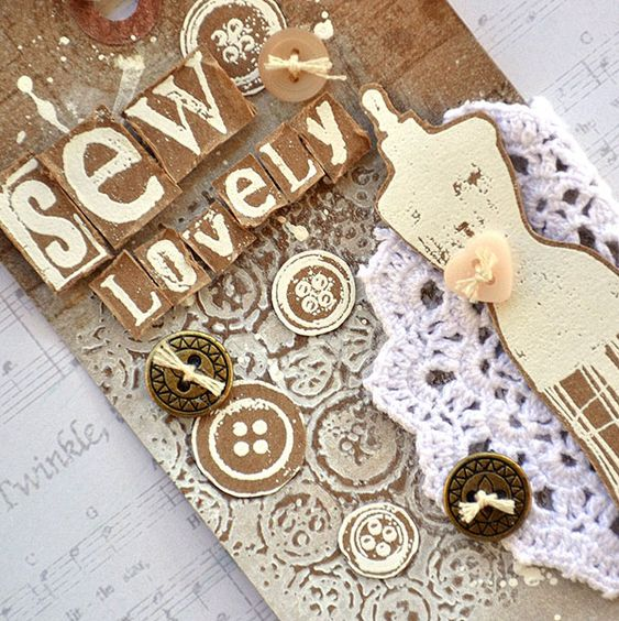 Buttons Texture Stamp Tags